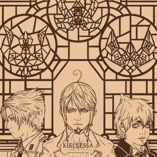 We Three Kings - Lineart